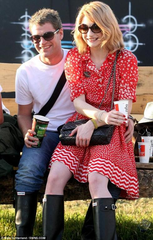 Nicola Roberts and Charlie Fennell show off their His 'n' Hers Hunters