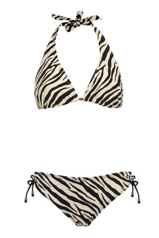 Zebra print bikini from Sainsbury's £12