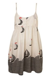 Cover up your bikini in this nauticalboat print dress from Topshop £22