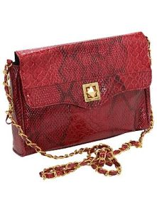 Snakeskin Effect Chain Bag £5.00