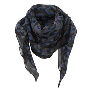 Blue Leopard Print Scarf @ New Look £7.00