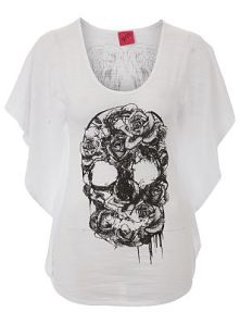 Skull Printed Top With Wing Print Detail To Back £12.00