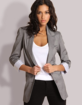 Grey Suit Jacket Womens | My Dress Tip