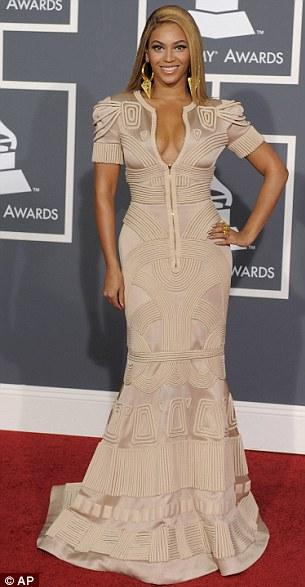Beyonce in a figure-hugging Stephane Rolland dress