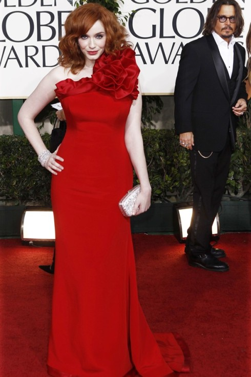 Christina Hendricks Golden Globes 2011