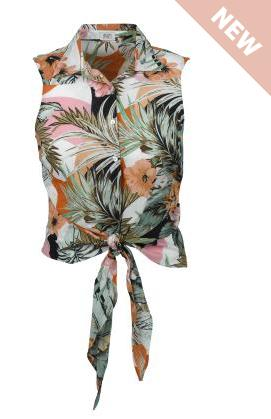 F&F jungle print tie front shirt, £12 - currently £6
