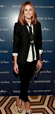 Olivia Palermo in a boyish tuxedo