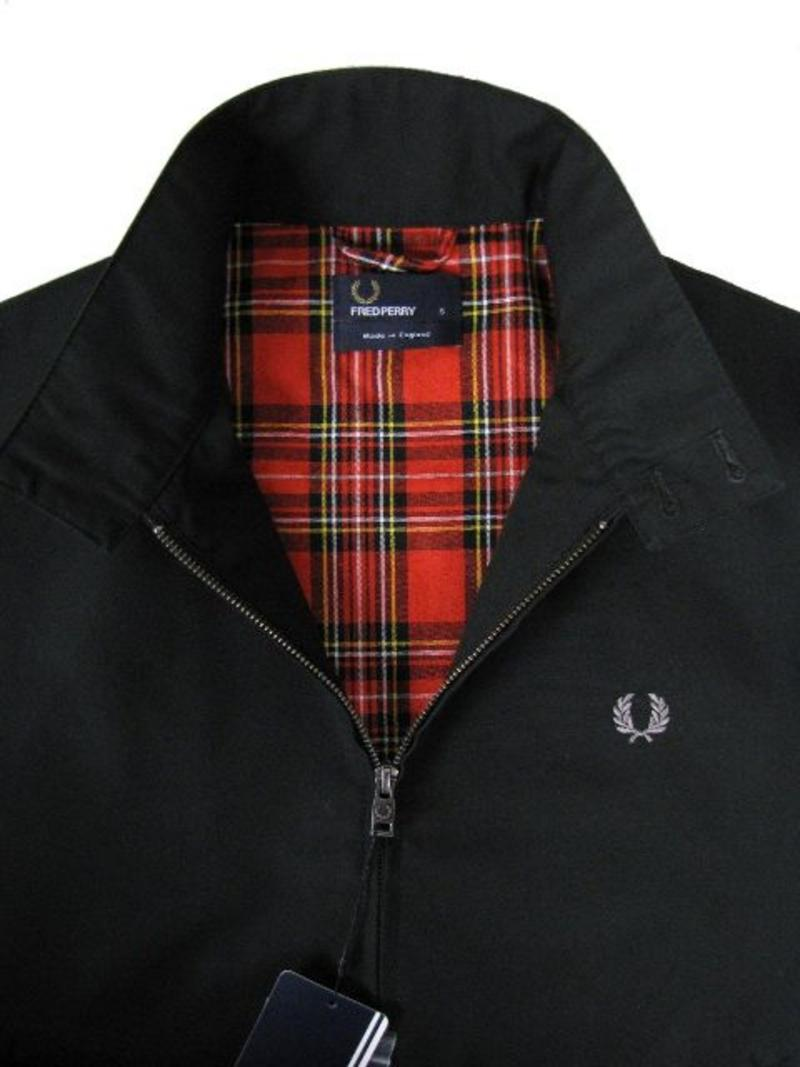 Fred Perry Harrington Jacke Schwarz