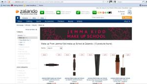Zalando's extensive beauty range
