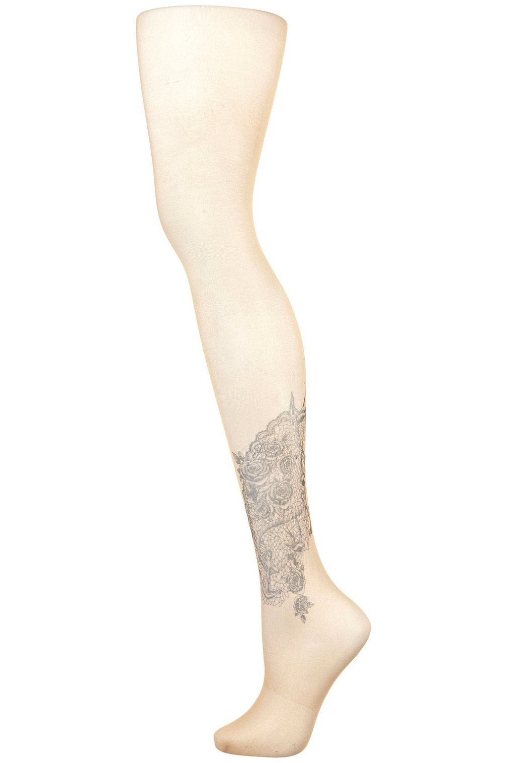 Tattoo Print Tights, £8.50, Topshop