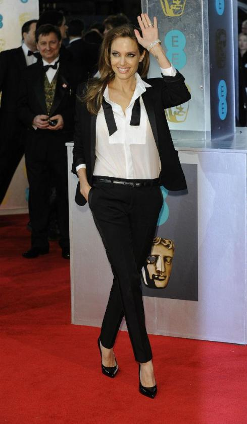 Angelina Jolie at the BAFTA awards 2014
