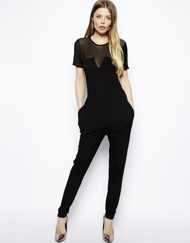 Jumpsuit with mesh insert @ ASOS £30.00