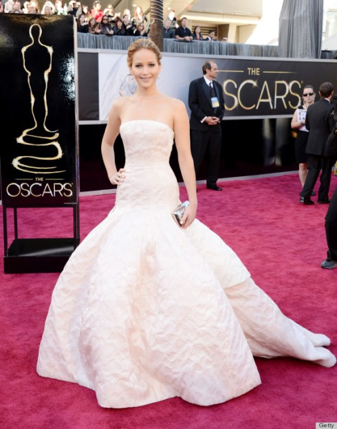 Jennifer Lawrence Oscars 2013 Dior