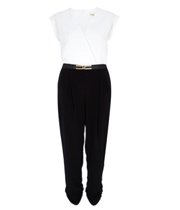 Black and white colour black jumpsuit @ River Island £45.00
