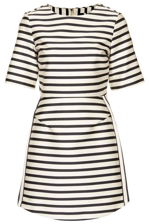 Satin Striped dress, £70, Topshop, Beyonce