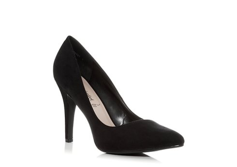 Black Sudette shoes, £17.99, New Look