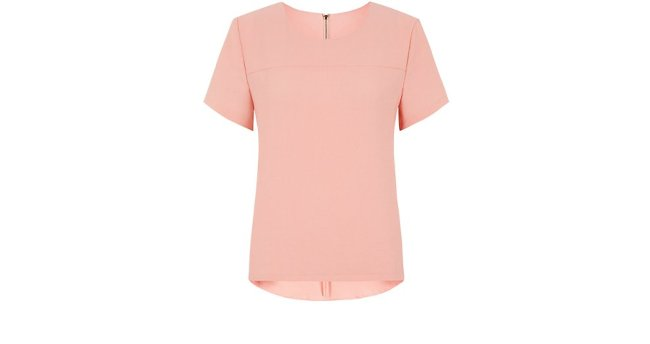 Rose Pink Zip Back Top, £14.99, New Look