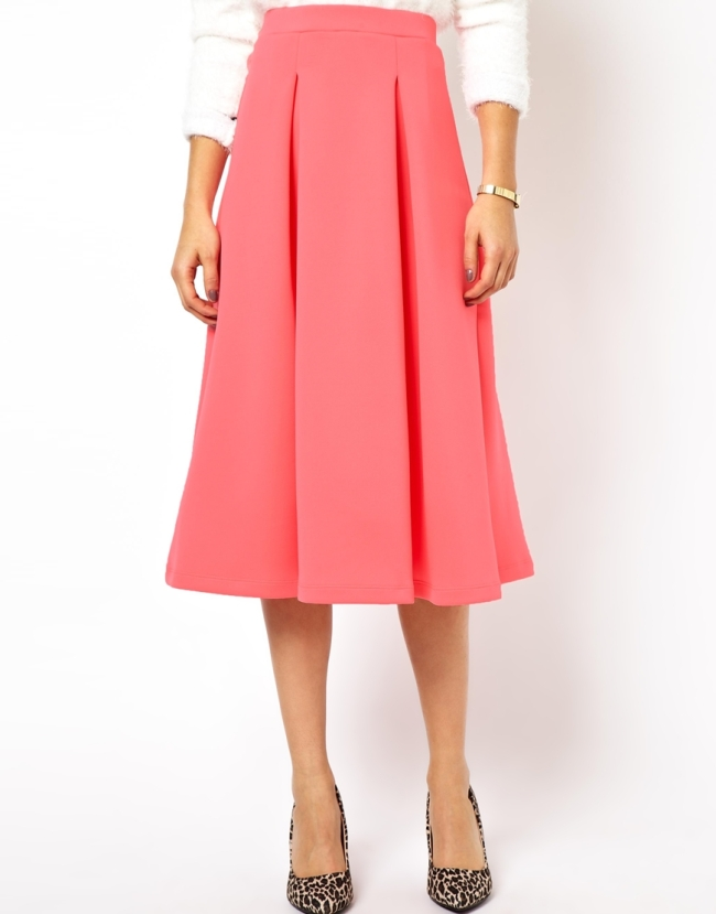 Pleated Pink Skirt, £30. ASOS