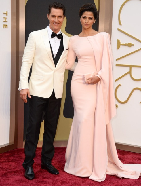 Matthew McConaughey and Camila Alves Oscars 2014