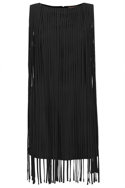 Long fringe tassel dress, Kate Moss for Topshop