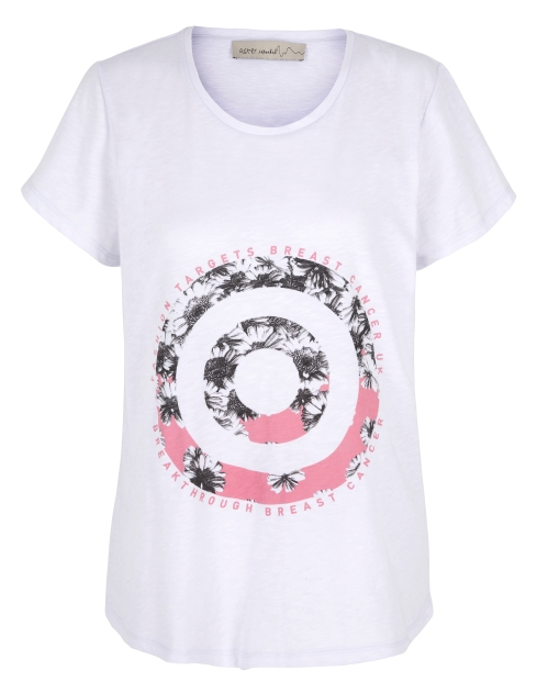 M&S White Target Print T-shirt, Fashion Targets Breast Cancer
