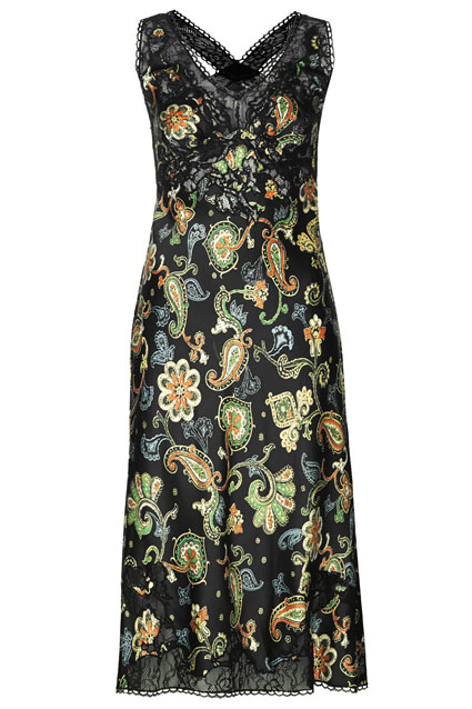 Paisley print midi dress, Kate Moss for Topshop