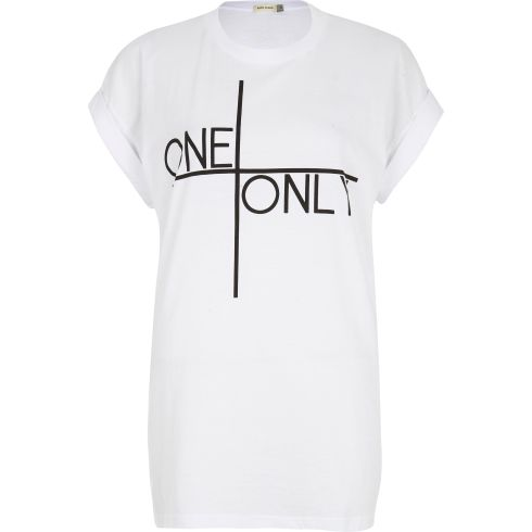 River Island 'One and Only' Print Oversized T-shirt, Fashion Targets Breast Cancer