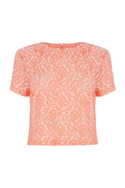 Warehouse Floral Two Tone Top, Fashion Targets Breast Cancer