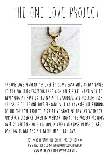 Gypsy East One Love Pendant