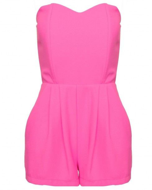 Pink Strapless Playsuit, LOVE