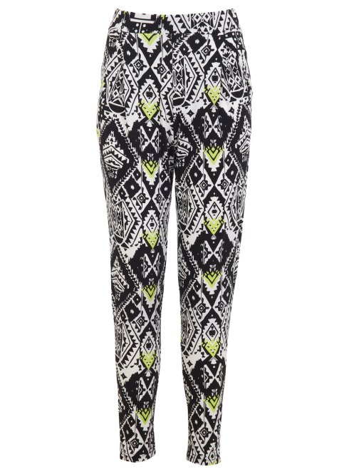 Printed Joggers, Lime, Miss Selfridge