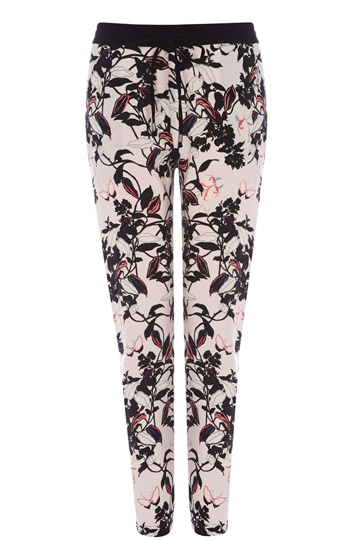 Painterly Kimono Soft Print Trousers, Printed Joggers, Oasis