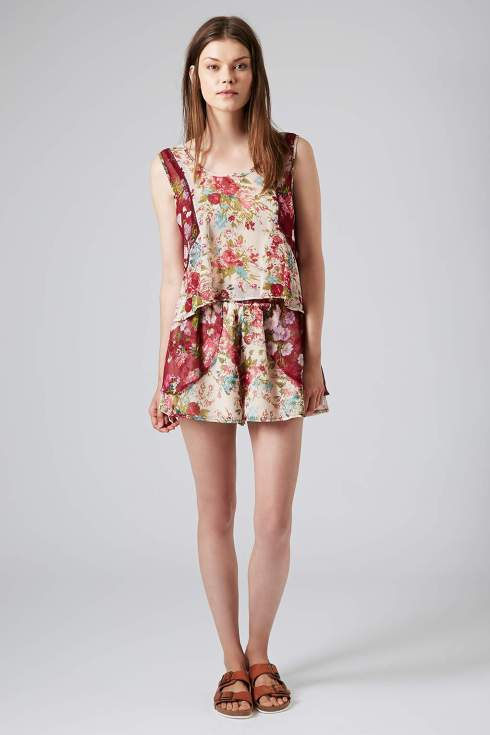Mixed print sleeveless blouse and shorts, Topshop, Band of Gypsies