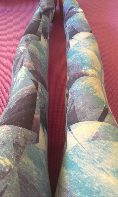 Sweaty Betty Purple Chandrasana Yoga Leggings