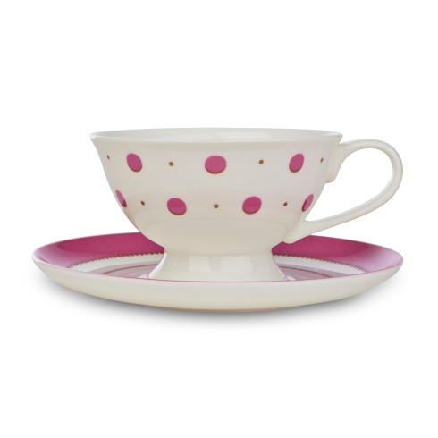 Darcey Spot China Cup and Saucer, Laura Ashley, £12.00